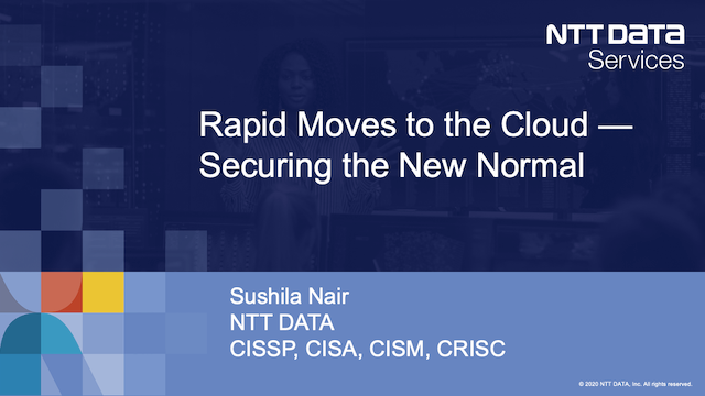 Rapid Moves to the Cloud: Securing the New Normal