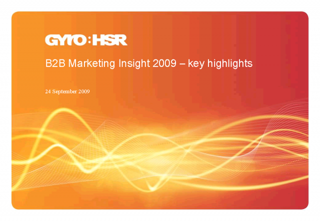 The latest B2B Marketing trends: Results from the Insight Report