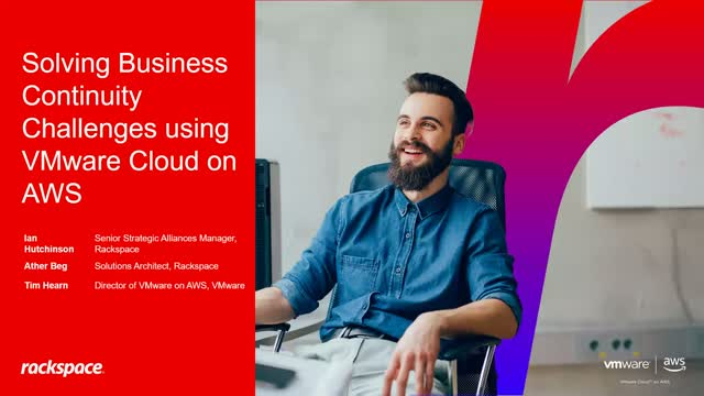 Solving Business Continuity Challenges Using VMware Cloud on AWS