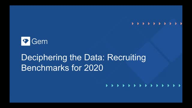 Deciphering the Data: Recruiting Benchmarks for 2020