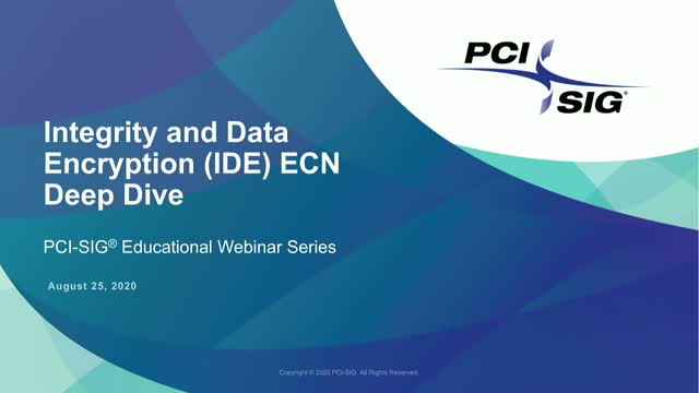Integrity and Data Encryption (IDE) ECN Deep Dive