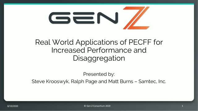 Real World Applications of PECFF for Increased Performance and Disaggregation