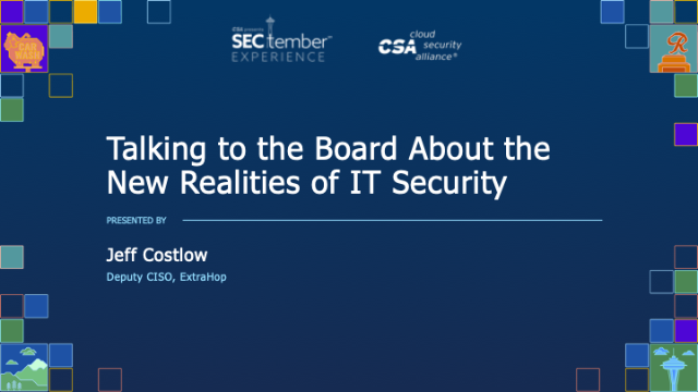 Talking to the Board About the New Realities of IT Security