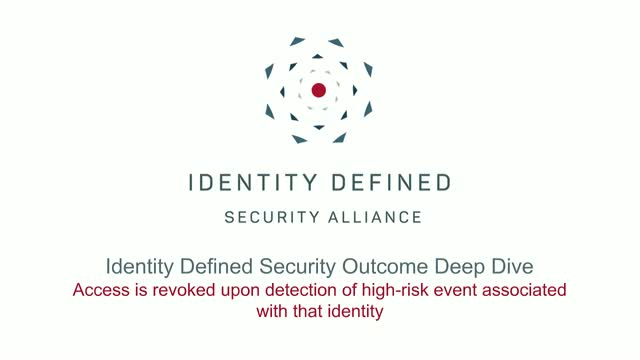 Security Outcome Deep Dive Series: Access Rights Revoked Based on Risk