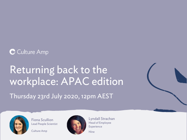 Returning back to the workplace: APAC Edition