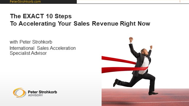 The Exact 10 Steps To Accelerating Your Sales Revenue Growth Right Now
