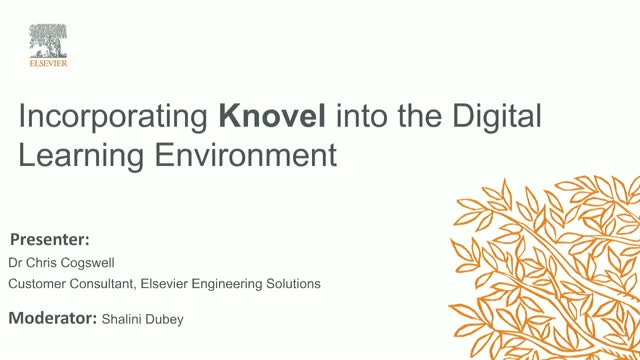 Incorporating Knovel into the Digital Learning Environment