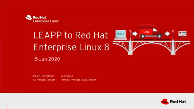 LEAPP to Red Hat Enterprise Linux 8 - tutorial
