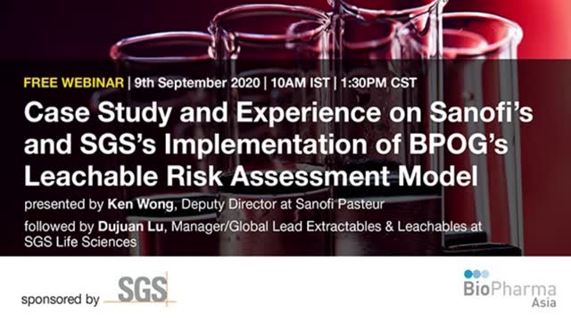 Case Study and Experience on Sanofi's and SGS's Implementation of BPOG's Leachab