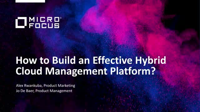 How to build an effective hybrid cloud management platform