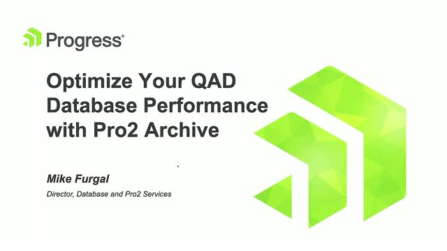 Optimize Your QAD Database Performance with Pro2 Archive