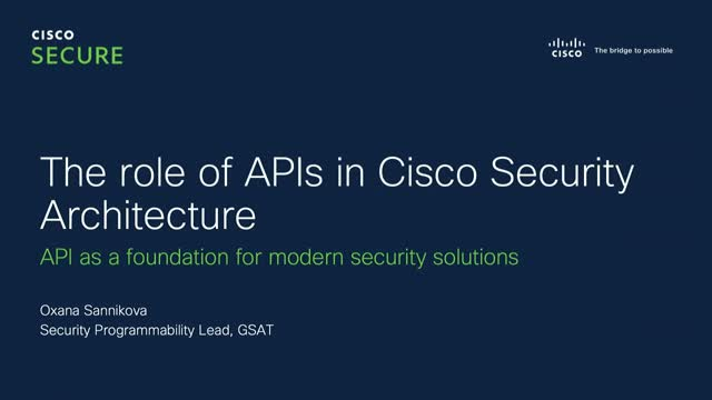 Security Automation & Orchestration Webinar Series: Overview of the Security API