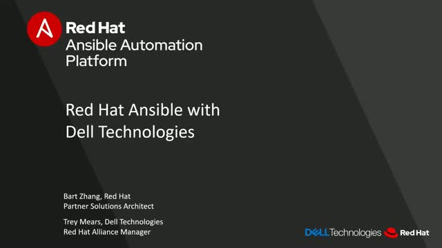 Red Hat Ansible with Dell Technologies