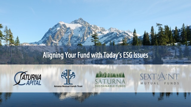 Aligning Your Fund with Today's ESG Issues