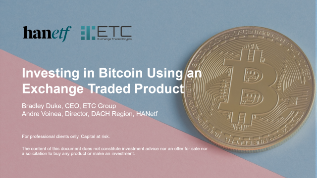 Investing in Bitcoin Using an Exchange Traded Product