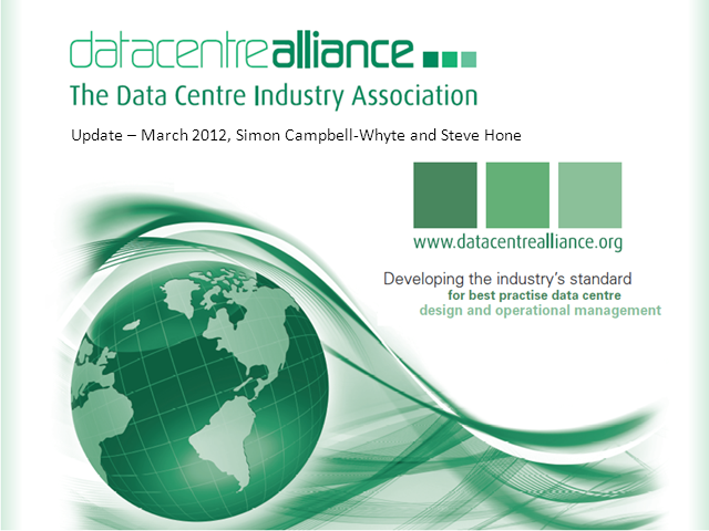 Data Centre Alliance Update