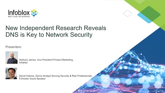 New Independent Research Reveals DNS is Key to Network Security
