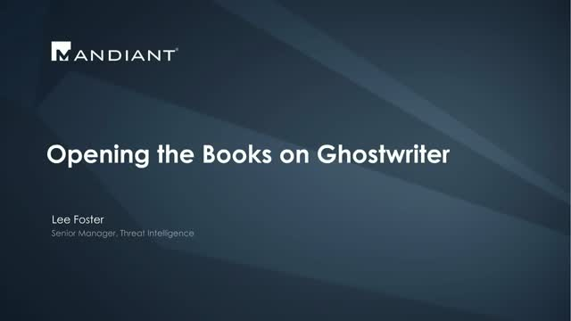 Opening the Books on Ghostwriter