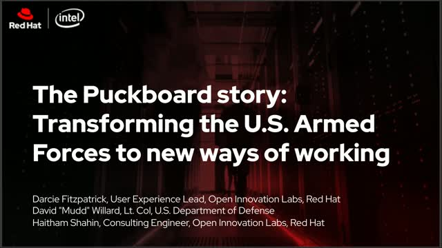The Puckboard story - Transforming the US Armed Forces to new ways of working