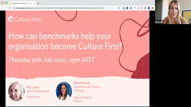 How can benchmarks help your organisation become Culture First?