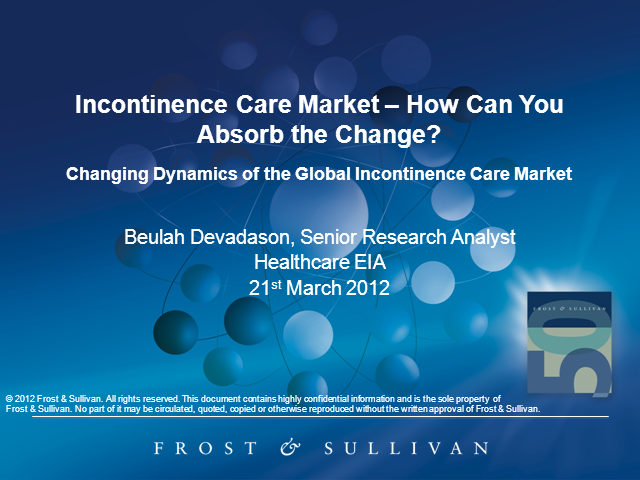 Changing Dynamics of the Global Incontinence Care Market