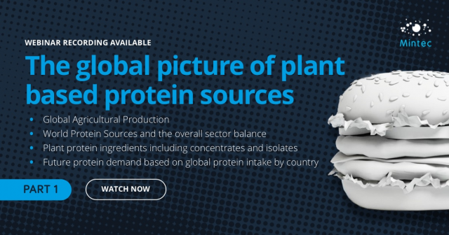 THE GLOBAL PICTURE OF PLANT BASED PROTEIN SOURCES