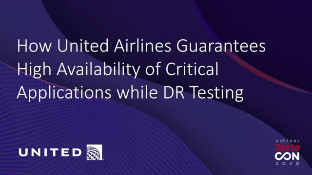 How United Guarantees High Availability of Critical Applications with DR Testing