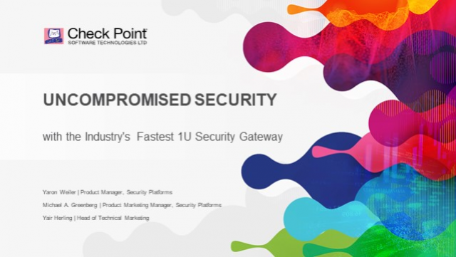Uncompromised Security with the Industry's Fastest 1U Security Gateway