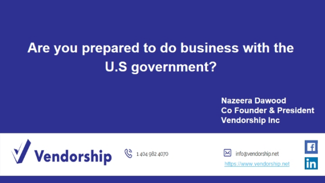 Are you prepared to do business with the US government?