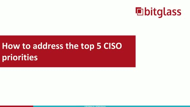 How to Address the Top 5 CISO Priorities