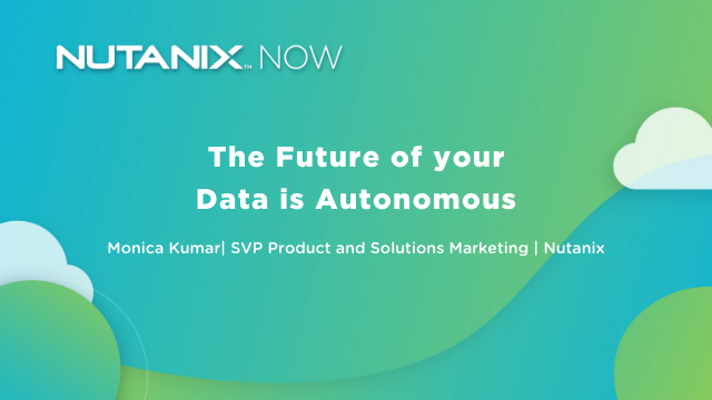 The Future of your Data is Autonomous
