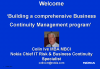 Disaster Planning: Building a comprehensive BCM program