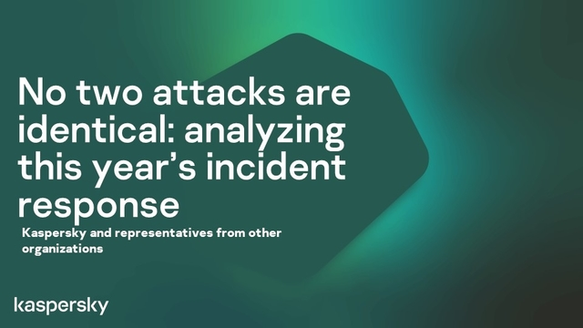 No two attacks are identical: a year in incident response