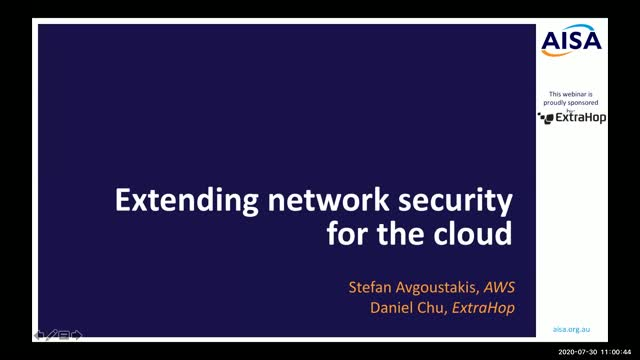 AISA Webinar: Extending network security for the cloud