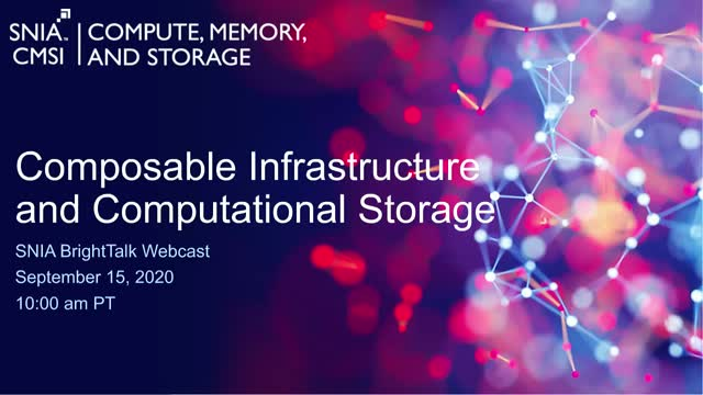 Composable Infrastructure and Computational Storage