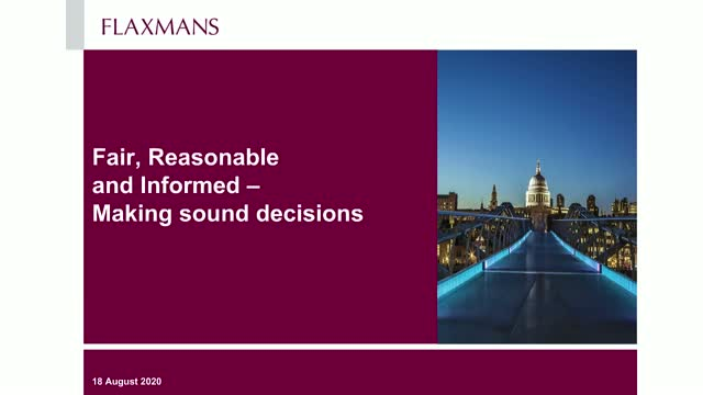 Fair, reasonable and informed - Making sound decisions