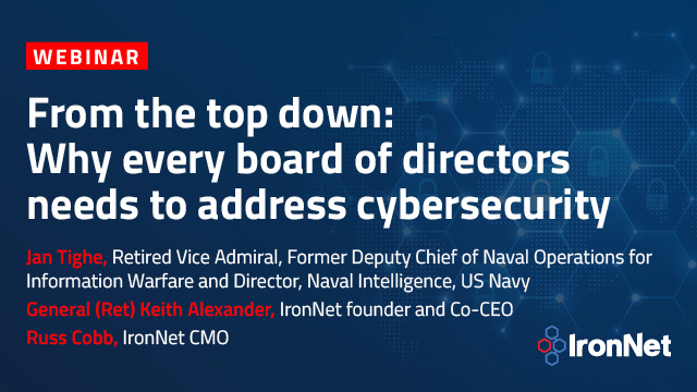 From the top down: Why every board of directors needs to address cybersecurity