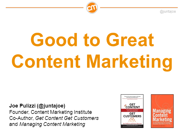 Good to Great Content Marketing