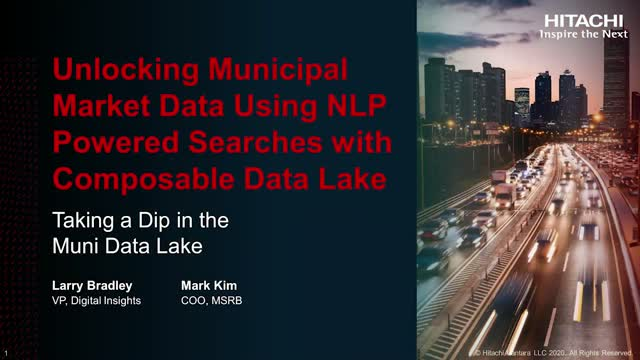 Municipal Securities Rulemaking Board Enjoys Greater Insights With Data Lake
