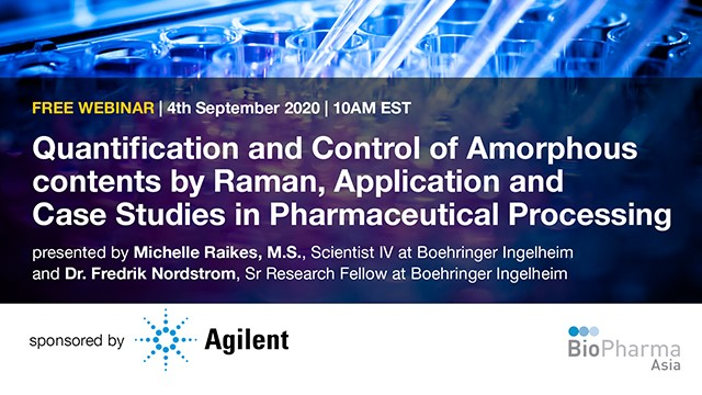 Quantification and Control of Amorphous contents by Raman, Application and Case