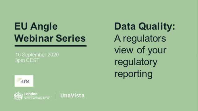 EU Angle – Data Quality: A regulators view of your regulatory reporting