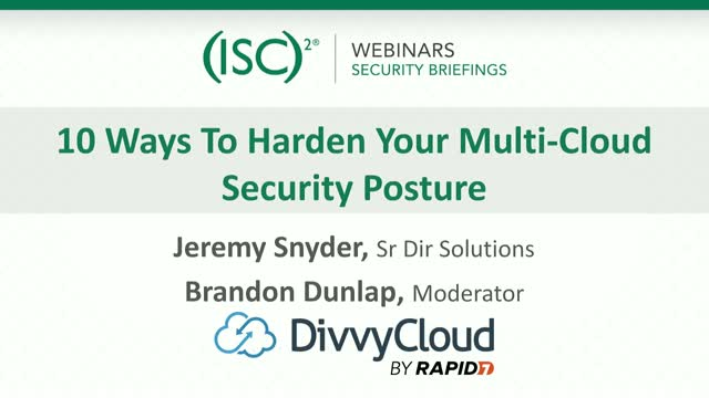 10 Ways to Harden Your Multi-Cloud Security Posture