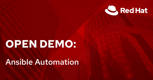 Open Demo: Ansible Automation (8/3)