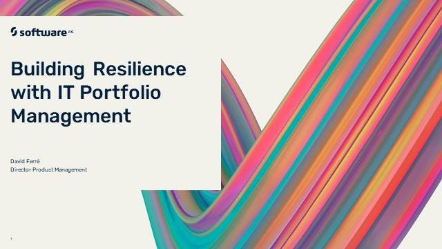 Alfabet Portfolio Playbook: Building Resilience with IT Portfolio Management