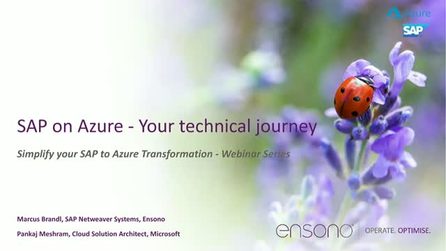 SAP on Azure Your Technical Journey