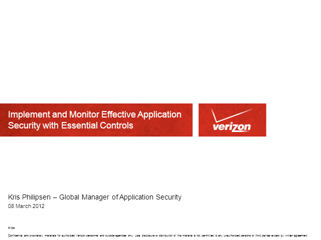 Implementing and Monitoring Application Security with Essential Controls