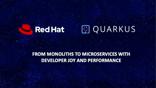 From Monoliths to Microservices with developer joy and performance