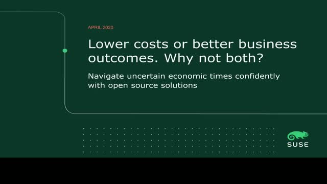 Lower costs or better business outcomes. Why not both? (SUB-ES)