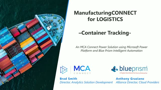 Intelligent Transportation: Container Tracking w/ Automation and Power Platform