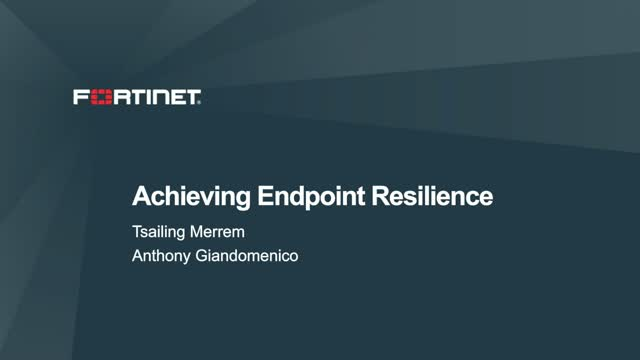 4 Key Ingredients for Endpoint Resilience